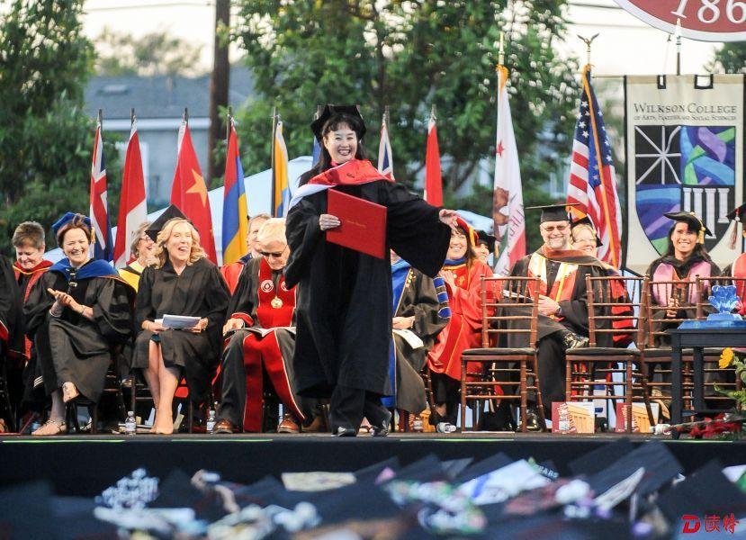 中國京劇表演藝術家孫萍獲美國大學榮譽博士