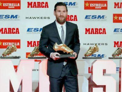 五夺欧洲金靴奖 梅西超越C罗创造纪录