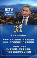 """(图表·海报)[迈好第一步,见到新气象·权威访谈]""""十四五""""规划开局之年,中国经济怎么看?怎么干?——访国家信息中心经济预测部主任张宇贤"""