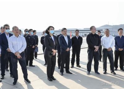 国家口岸办副主任党英杰调研小漠国际物流港