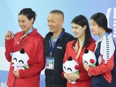 中国游泳争霸赛肇庆站首日:张雨霏表现抢眼夺双金
