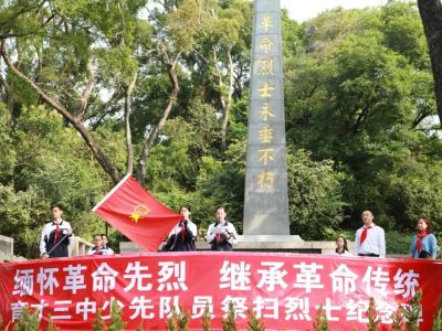 缅怀革命先烈·传承红色基因 | 党团队携手开展清明祭英烈活动