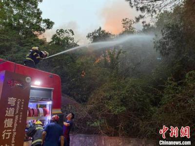广东惠州红花湖山火已扑灭