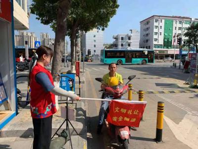 福永街道运用科技手段倡导文明出行