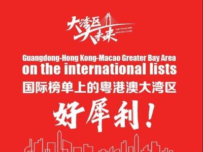 国际榜单上的粤港澳大湾区,真的好犀利!