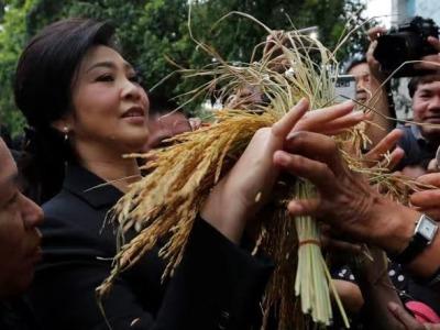 """泰国法院驳回对前总理英拉""""大米渎职案""""指控"""