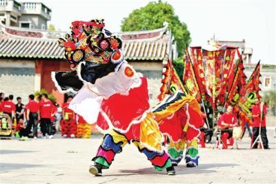 麒麟舞动醒狮闹 福永传统文化掀热潮