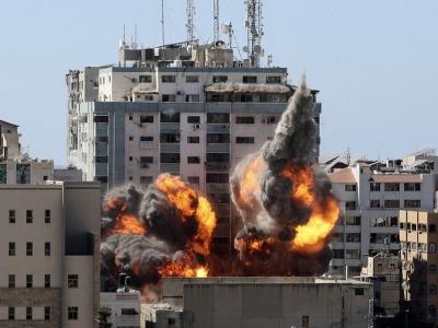 """以国防军:被炸毁的加沙国际媒体办公楼是""""合法的军事目标"""""""