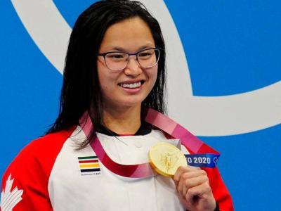 加拿大华裔女孩100米蝶泳夺冠,东京奥运会华裔变多了吗?