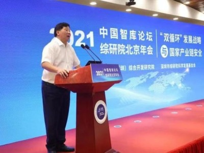 """""""双循环""""发展战略与国家产业链安全  中国智库论坛暨综合开发研究院北京年会举行"""