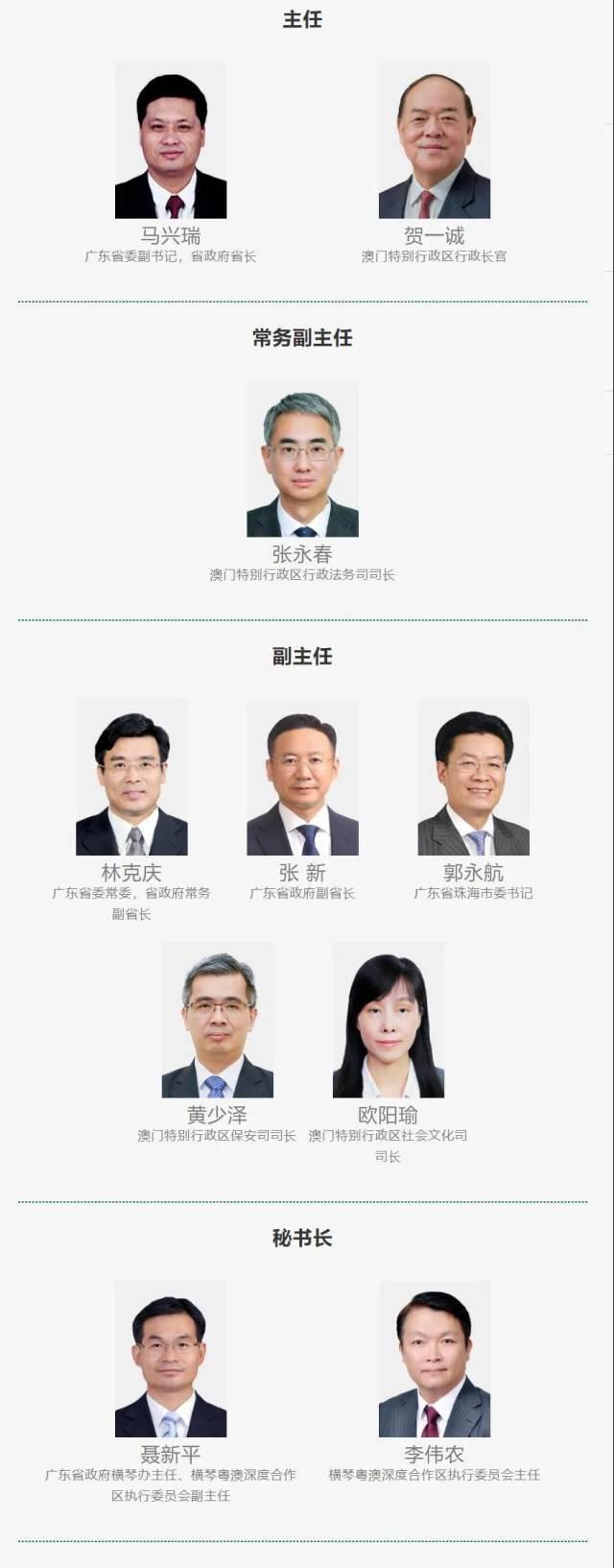 横琴合作区管委会、执委会成员名单公布
