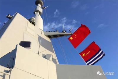 万吨大驱首次出国参演!直击中俄海上联合军演现场