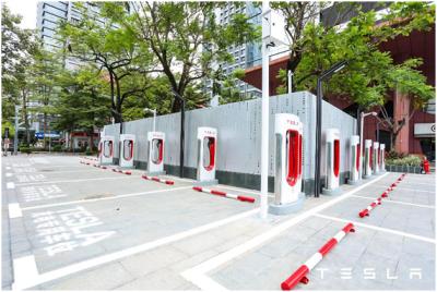 特斯拉在中国大陆超级充电站数量达到1000座