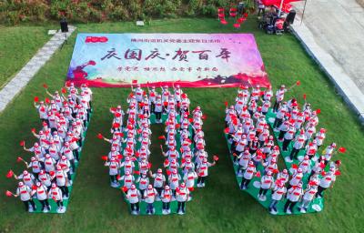 庆国庆 贺百年 横岗街道机关党委开展主题党日活动