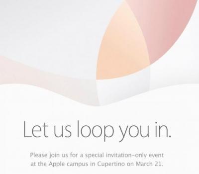 苹果发出3月22日发布会邀请函 料将发布4英寸iPhone
