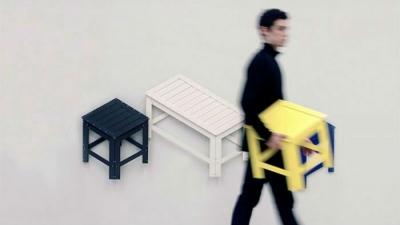 见过没?可以在二维与三维之间转换的家具