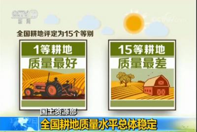 国土资源部:全国耕地质量水平总体稳定