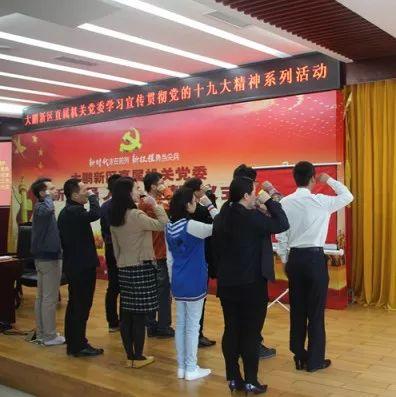 大鹏新区直属机关党委举行新党员入党宣誓仪式