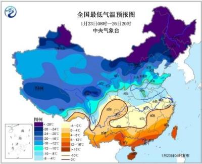 寒潮蓝色预警!未来中东部地区降温12℃