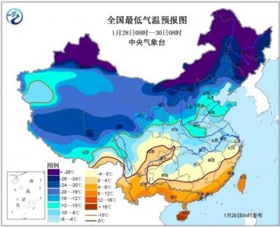 中央气象台发布寒潮蓝色预警:中东部地区气温还将下降