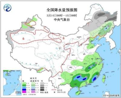局地最高温达30℃的北方明起气温下坡,南方进入多雨模式