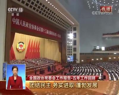 视频回放 全国政协十三届一次会议开幕