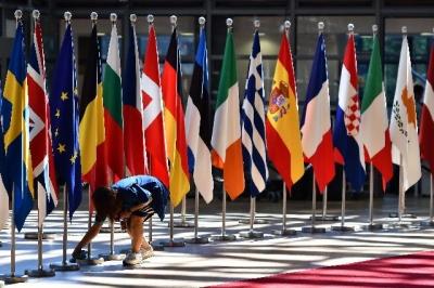 美挑起贸易战造成紧张,欧盟刚刚削减了欧元区增长预期.
