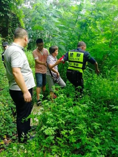 六旬老人与家人吵架离家出走,警方搜山3小时