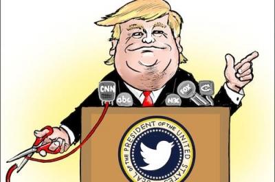 """第一夫人收看""""假新闻""""CNN 特朗普勃然大怒"""