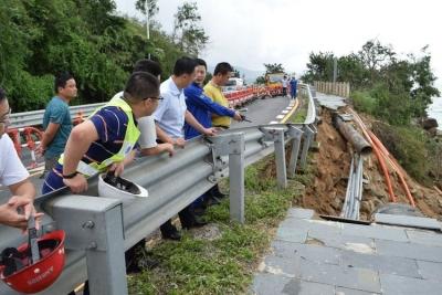 """大鹏新区坚决做好台风""""山竹""""灾后复产复工安全生产工作"""