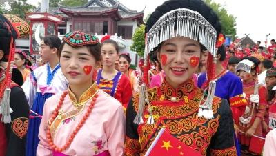 """国庆跑出酷炫民族风!锦绣中华56民族千人""""爱国跑"""""""