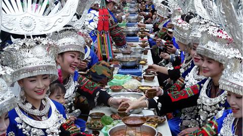 """贵州苗年又添""""新菜"""" 中国原生态国际摄影大展在雷山开幕"""