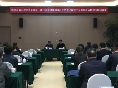 深圳市六次党代会基层一线代表培训班开班