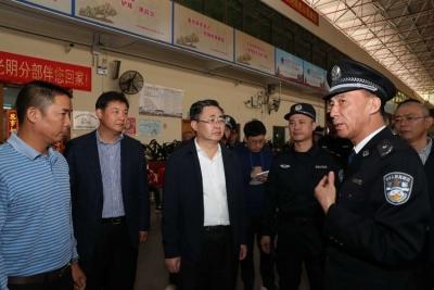 光明区委书记王宏彬同志带队开展岁末年初安全大检查工作