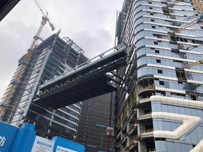 跨度广东省内第一!宝安天谷产业园区钢结构连廊安装完成