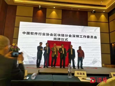 中国软件行业协会区块链分会深圳工作委员会成立