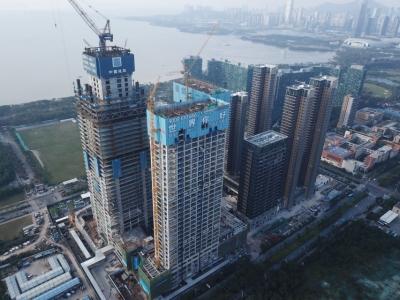 在地铁上建造最高楼!850位专家观摩中建一局深湾汇云中心项目