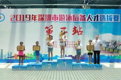 深圳市体工大队举办游泳后备人才选拔赛