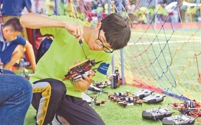 2019粤港澳大湾区青少年无人机科创嘉年华广东9市选拔赛罗湖开赛