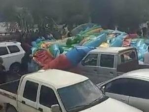 河北涞源突发龙卷风掀翻充气堡,致2儿童死亡7人受伤
