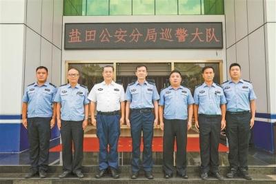深圳市公安局鹽田分局24小時不間斷巡邏,守護鹽田365天平安