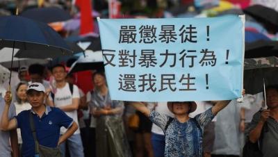 日本学者亲历香港游行:采访时遭围堵 摄像机被暴徒抢走