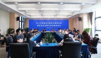 龙华区人大代表到龙华法院开展专项视察活动