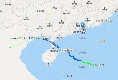 """台风""""韦帕""""在海南文昌登陆!深圳多个预警生效中,今日仍有暴雨"""