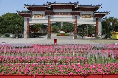 红装素裹迎国庆 公明6大盛装布景点摆花工程完工开放