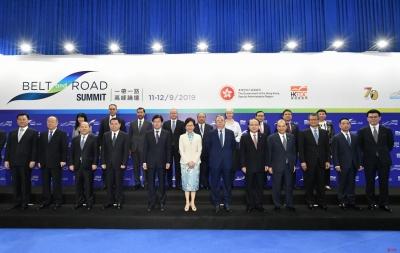 """""""一带一路""""高峰论坛在港召开,世界各地近5000人共议合作"""