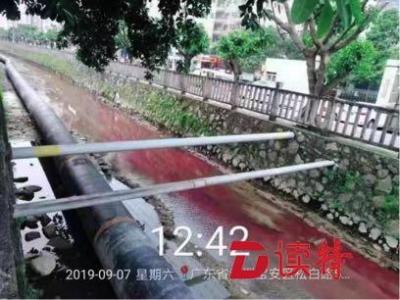 河道惊现红色水流入!宝安两企业直排工业废水被查处