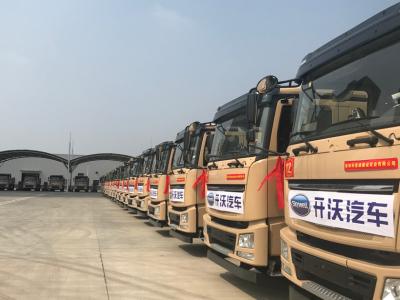 深圳最大批量纯电动泥头车交付 开沃新能源车跻身全国第一梯队