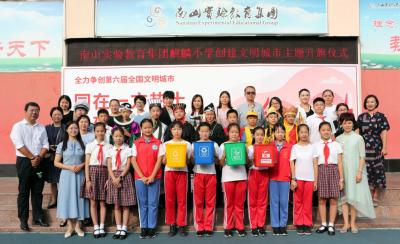 """古人""""穿越""""到深圳邂逅現代文明?南山這所小學校園文明宣傳創意十足"""
