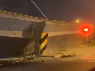 視頻曝光!江蘇無錫一高架橋發生垮塌!